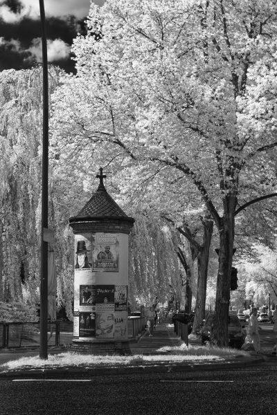 Litfaßsäule an der Rothenbaumchaussee